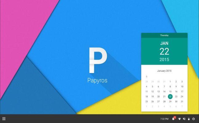 توزيعة PapyrOS قادمة قريباً وبتصميم Material Design
