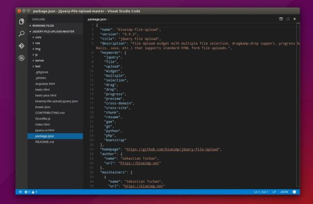 Visual Studio Code in Linux